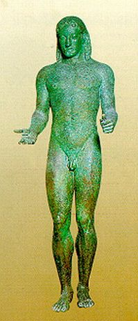 bronze statue of Apollo